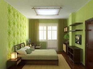 Особенности интерьера в зеленых обоях