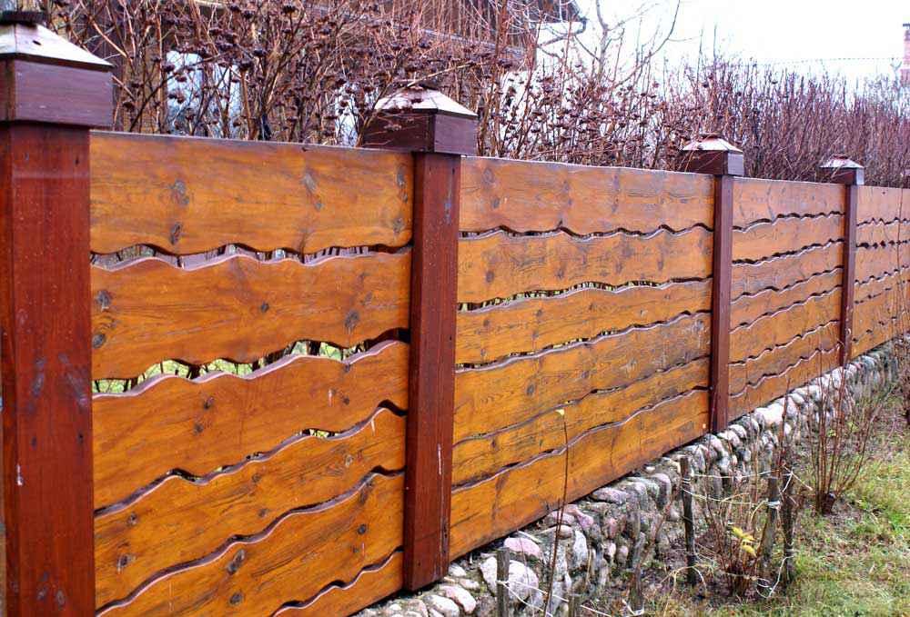 Деревянные заборы для дачи своими руками фото