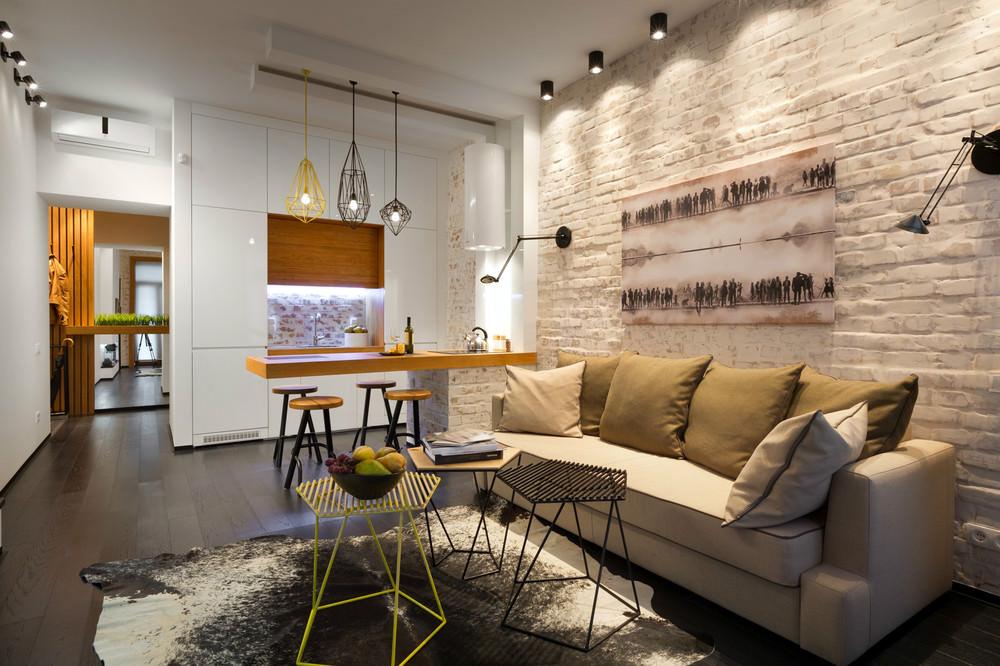 Фото интерьеров квартир в стиле лофт фото