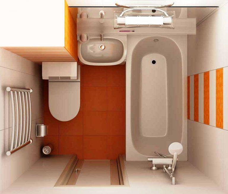 Дизайн для маленькой совмещенной ванной комнаты 161