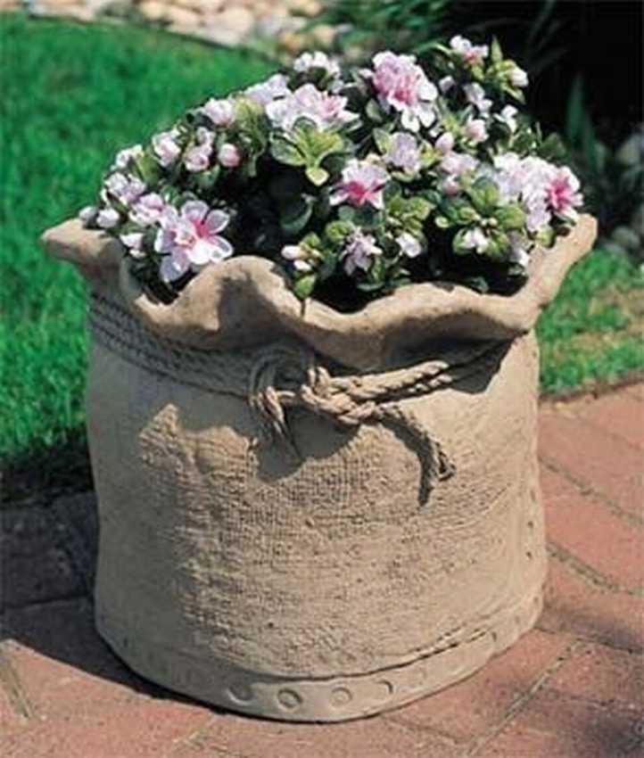 Как сделать своими руками вазоны из цемента для уличных цветов 26