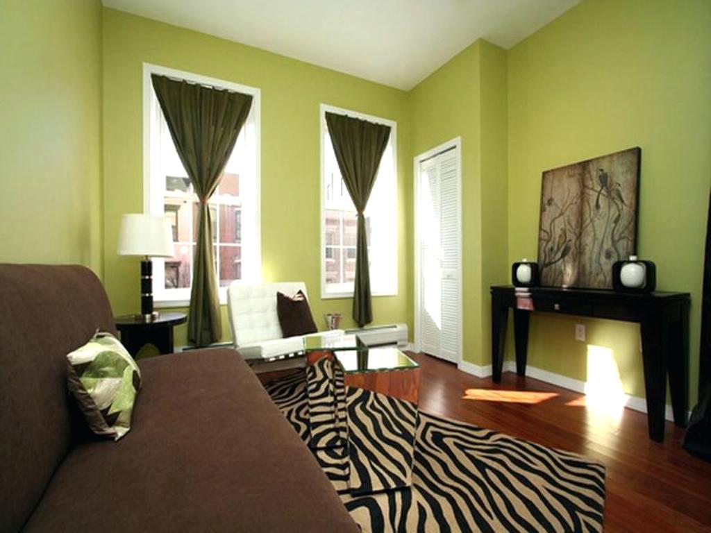 Темно зеленый на стенах в интерьере