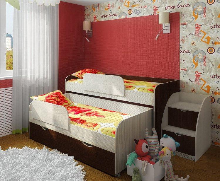 Достоинства выдвижных кроватей для двоих детей или подростков
