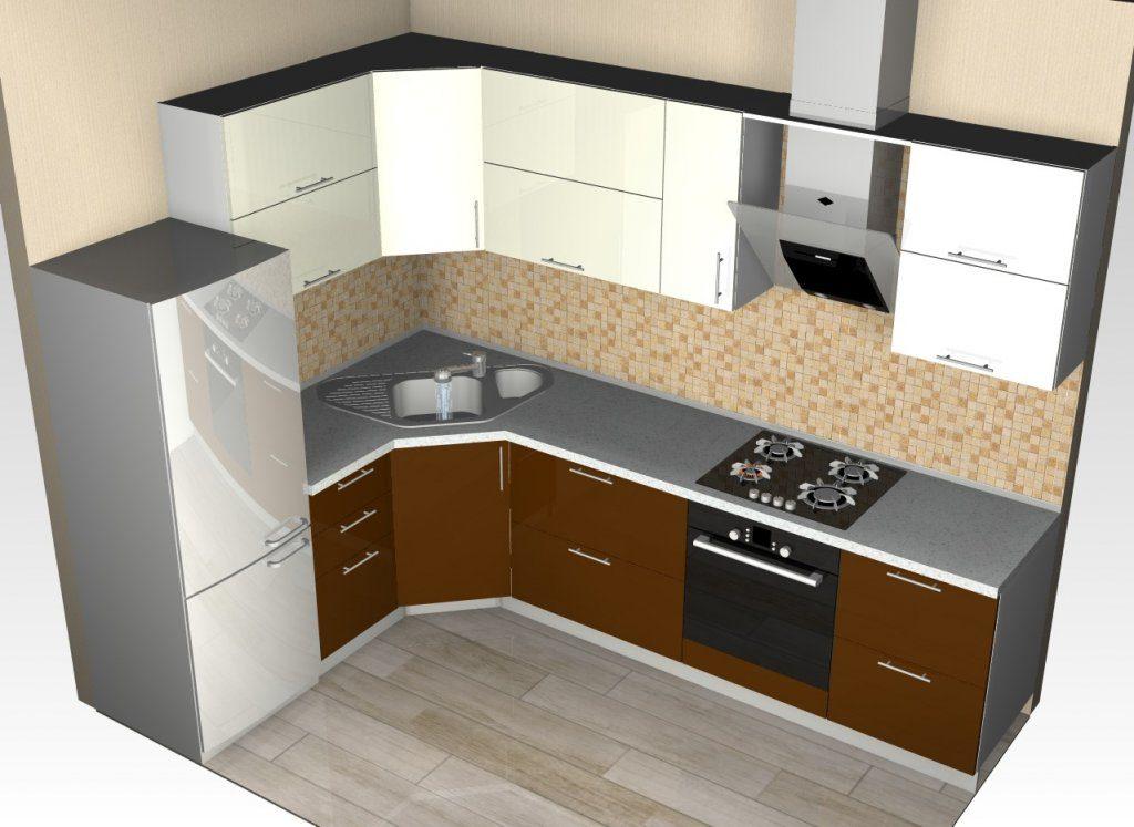 Гарнитур кухонный в котором угловая раковина