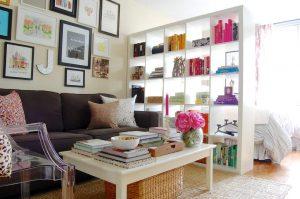 Перегородки и стеллажи в комнату, виды по типу конструкции