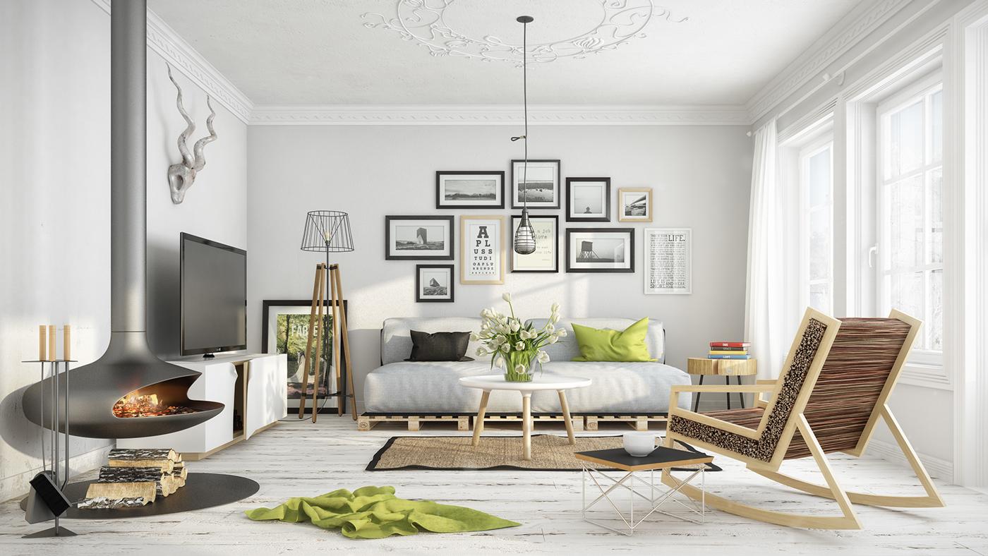 в стиле картинки скандинавском мебель