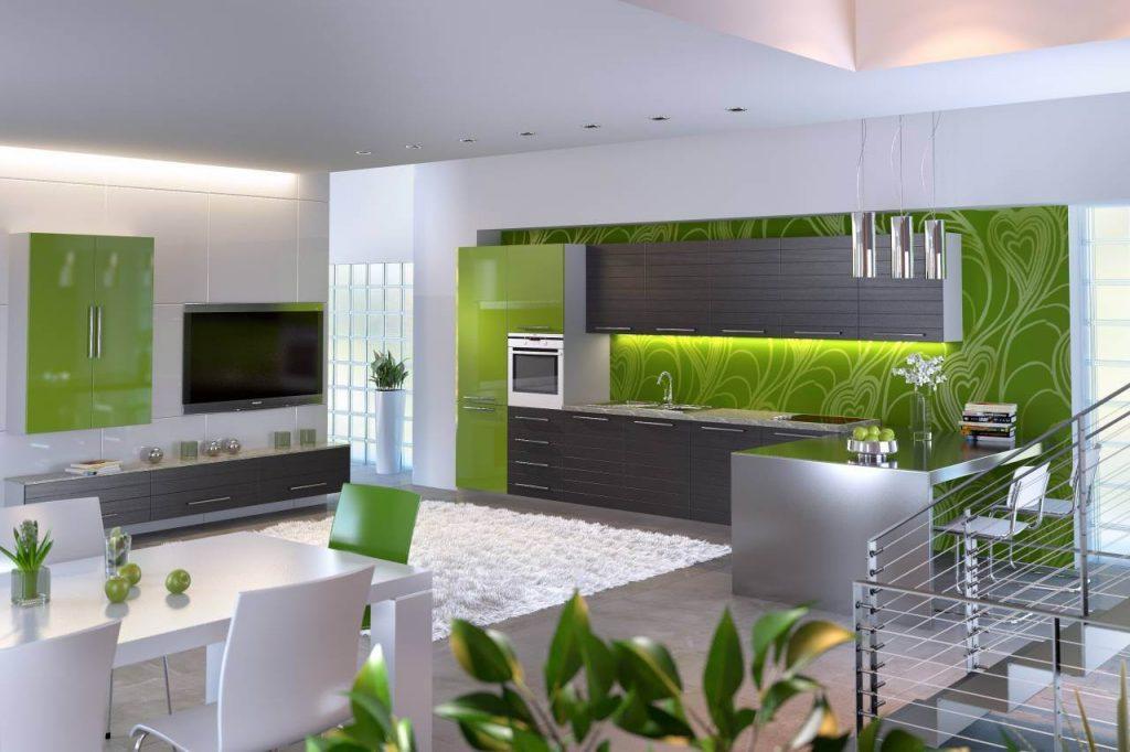 Cерые обои: оформление гостиной и кухни, плюсы