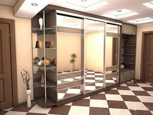 Встроенный шкаф в коридоре - шкаф купе в прихожую