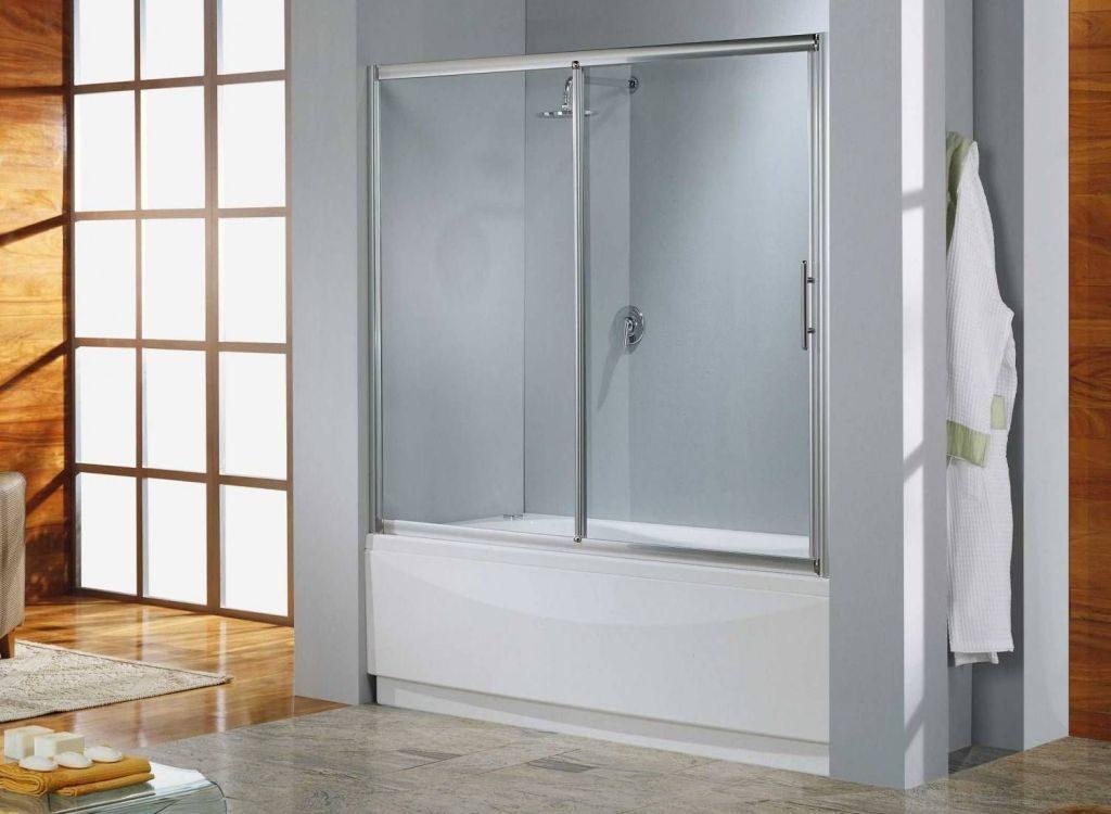 Шторки для ванной стеклянные раздвижные