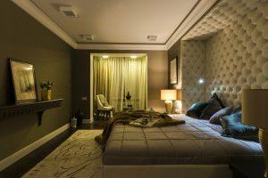 Современная спальня в стиле арт-деко