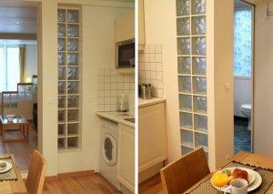 Стеклоблоки в интерьере: виды и использование в дизайне квартиры