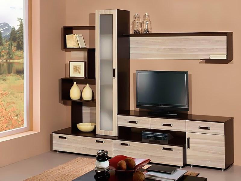Как выбрать современную стенку в гостиную, формы и стили
