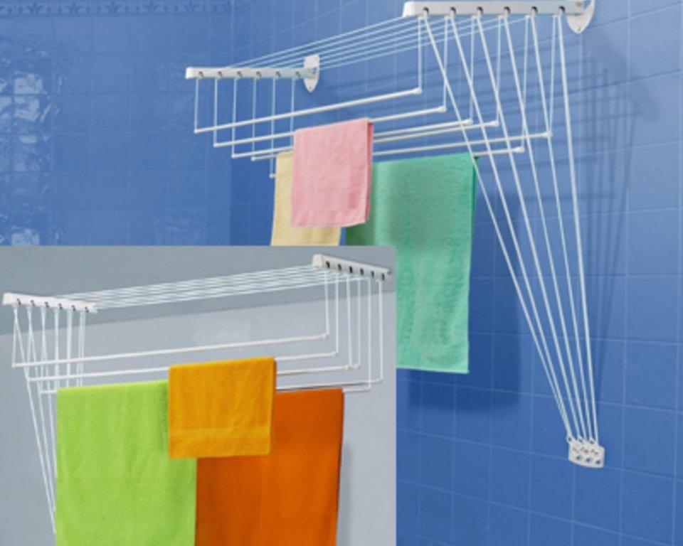 Сушки для белья: настенные сушилки для белья в ванную и на б.
