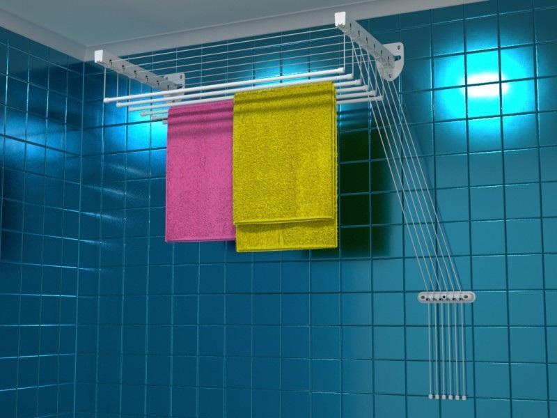 Сушилка для белья настенная и подвесная на балкон и в ванную комнату