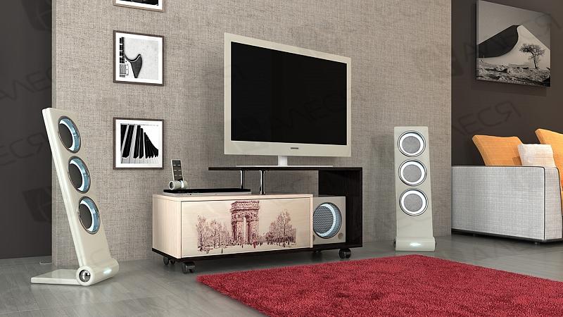 Тумба под телевизор в современном стиле