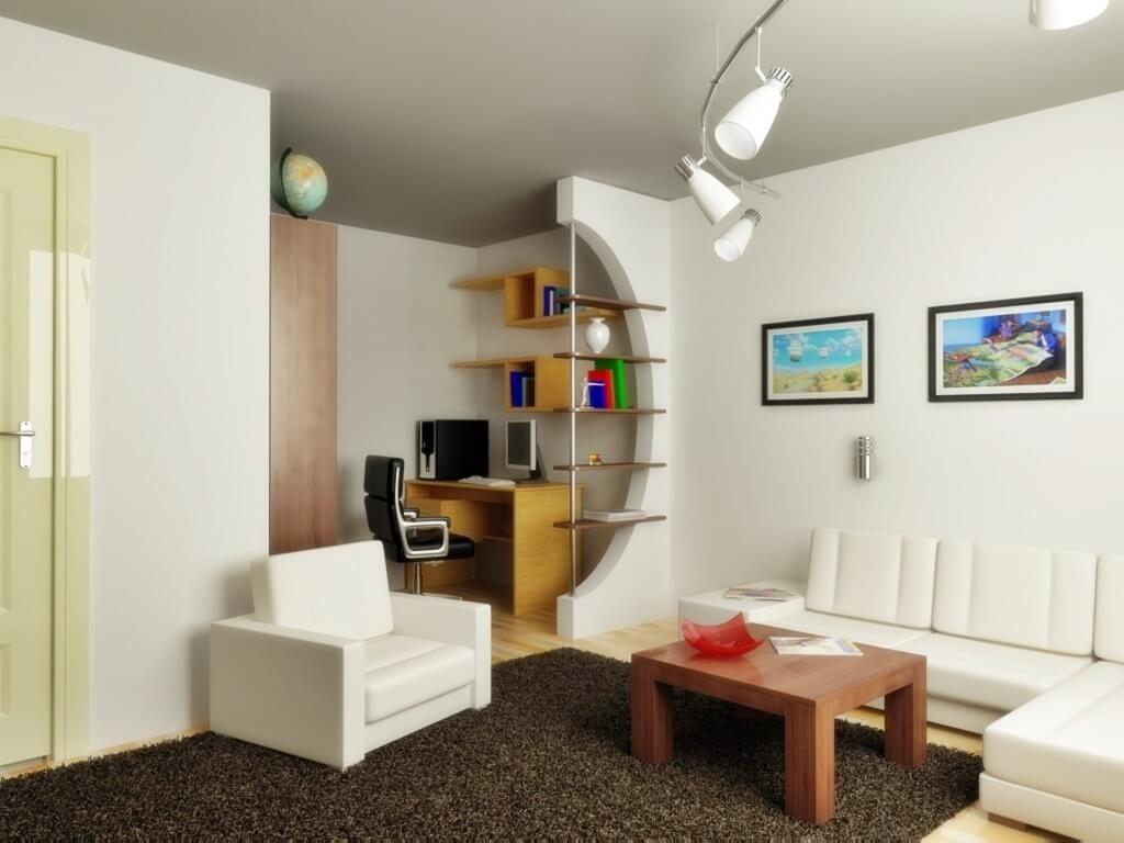 Зонирование пространства в однокомнатной квартире для семьи с ребёнком