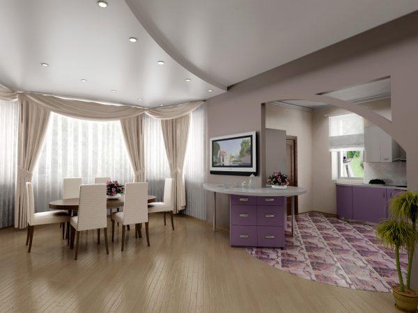 Двухуровневые натяжные потолки для вашей квартиры в Киеве - варианты дизайна интерьера