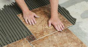 Укладка плитки на пол. Этапы работы