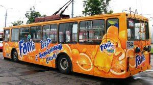 Преимущество рекламы на транспорте